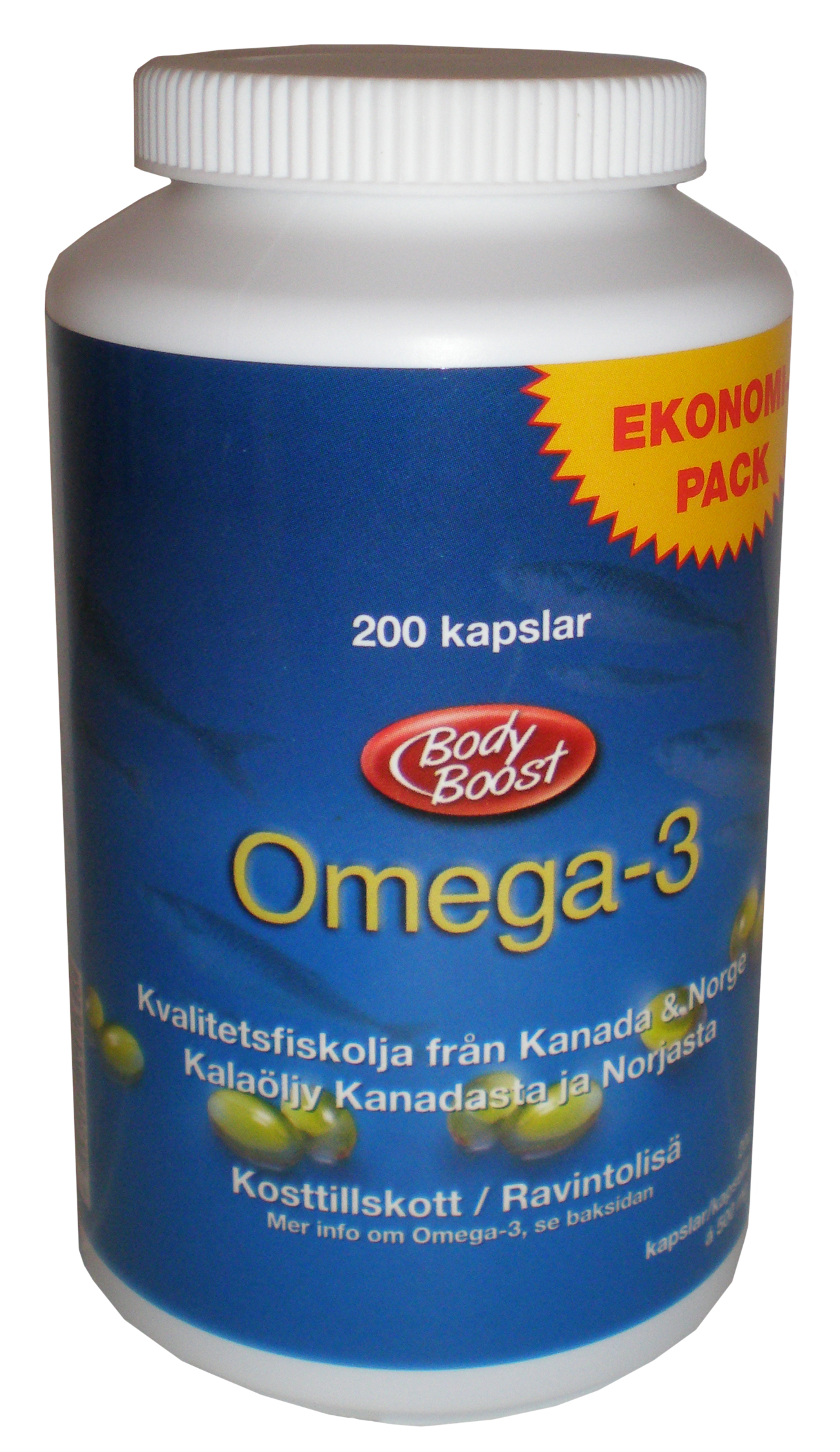 Bellvin Group AB » Body Boost Omega-3 – 200 caps